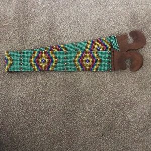 Turquoise Beaded Waist Belt